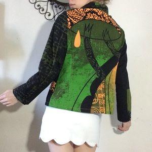 Paramita Eccentric Reptile Vibes Artsy Jacket